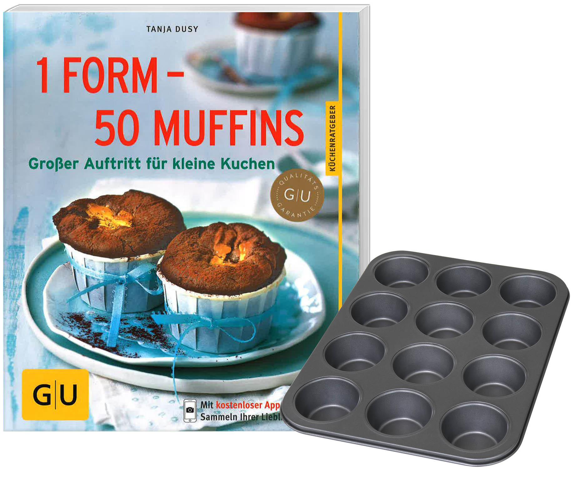 Oetker Muffin-Backform mit Backbuch Muffinform Muffinblech Cupcakes Muffins Dr