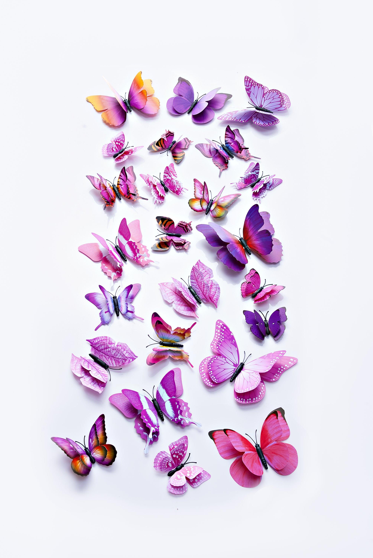 "Sticker /""Schmetterlinge/"" bunt 3D Aufkleber Magic stone Karten basteln"