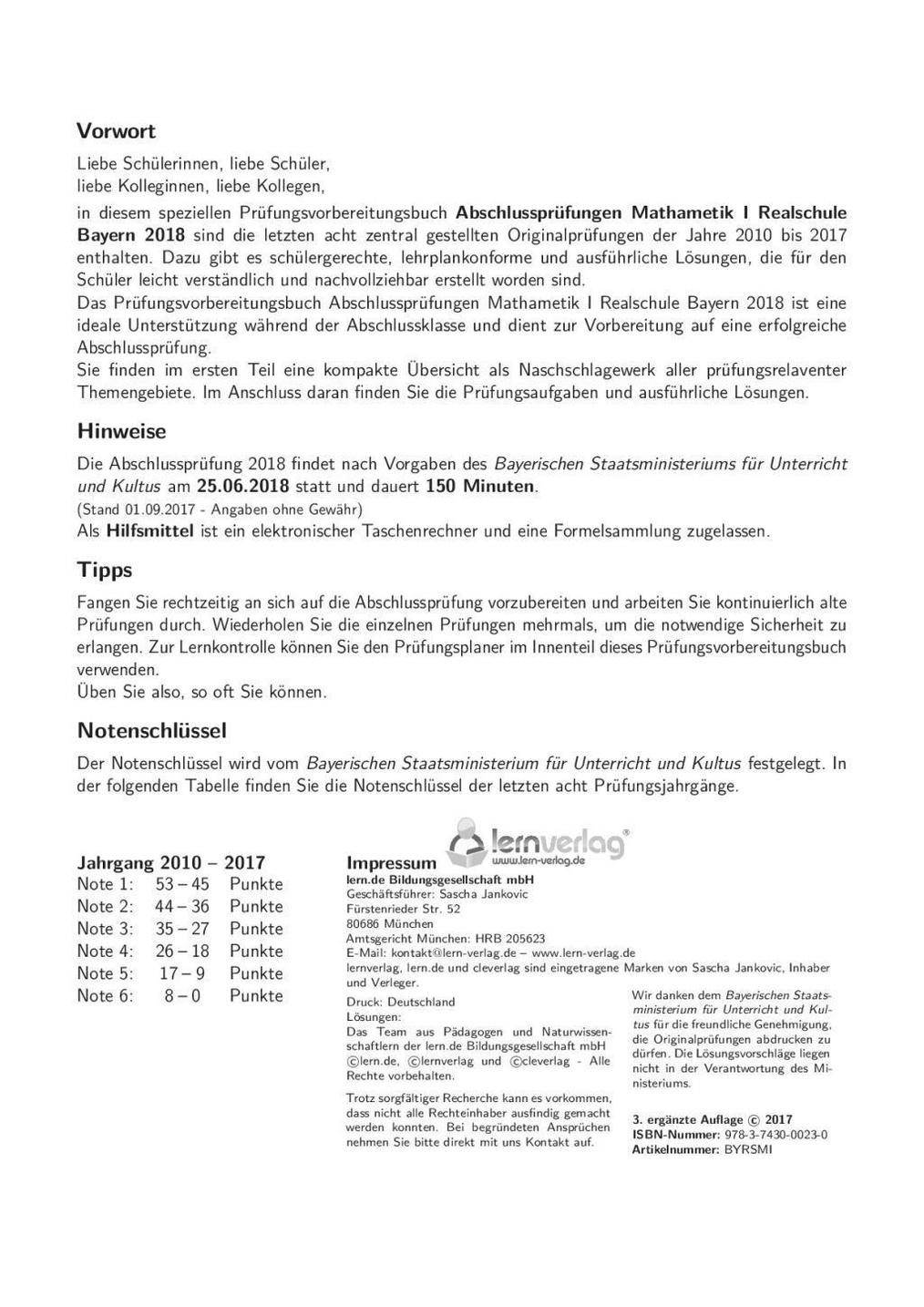 mathe abschlussprüfung realschule bayern 2019