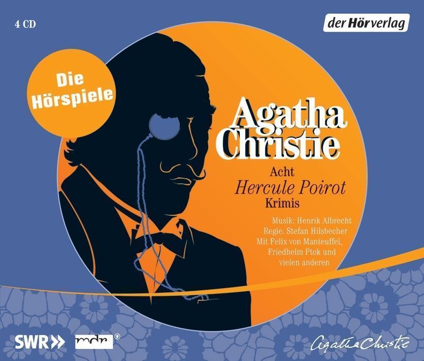 Acht Hercule Poirot Krimis, 4 Audio CDs