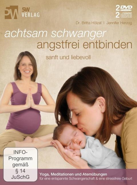 Image of Achtsam schwanger, angstfrei entbinden, 2 DVD u. 2 Audio-CDs