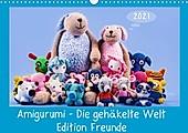 Amigurumi - Die gehäkelte Welt Freunde (Wandkalender 2021 DIN A3 quer) - Kalender - Sven Sommer Fotografie,