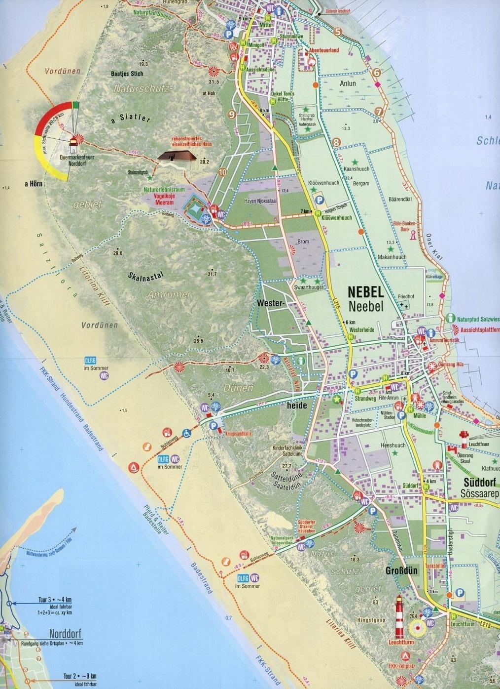 Amrum Touristische Karte 1 20 000 Buch Versandkostenfrei