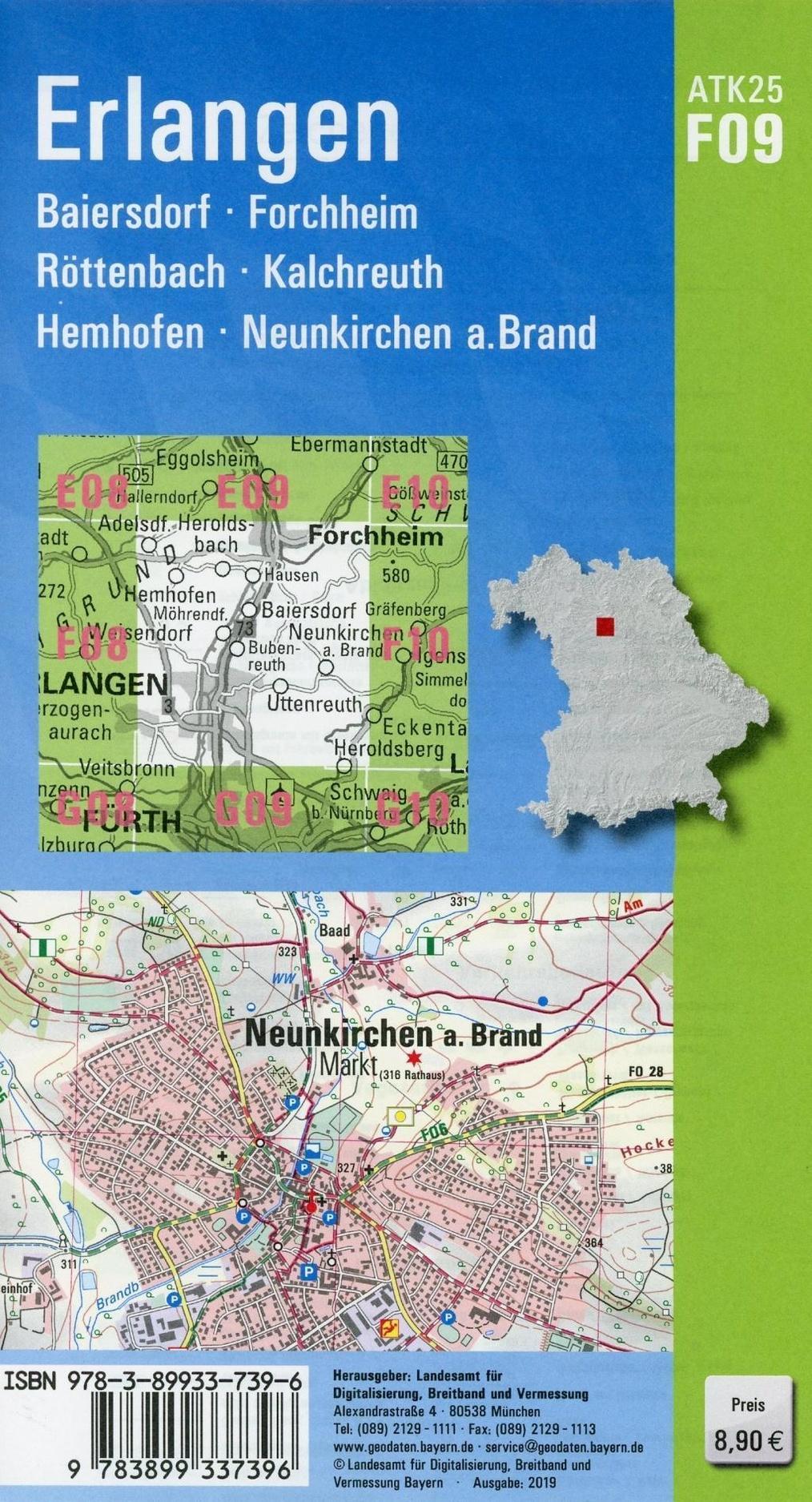 Amtliche Topographische Karte Bayern Erlangen Buch Versandkostenfrei