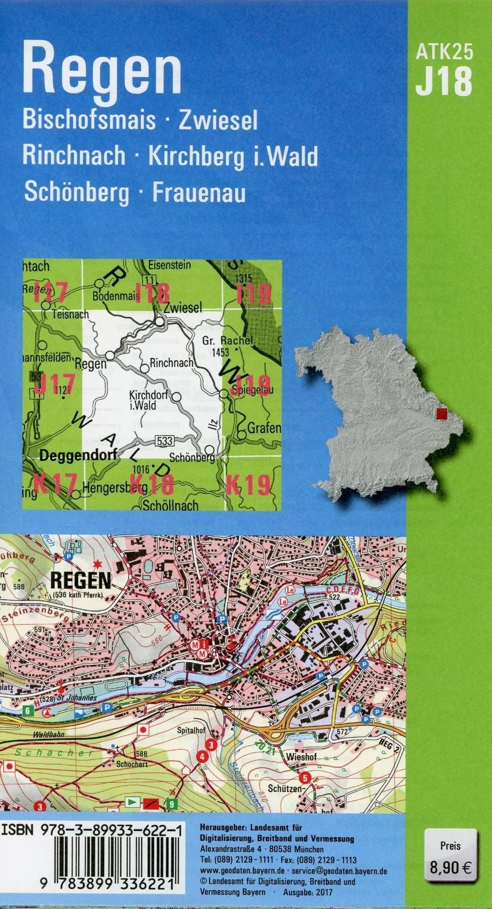 Amtliche Topographische Karte Bayern Regen Buch Weltbild Ch