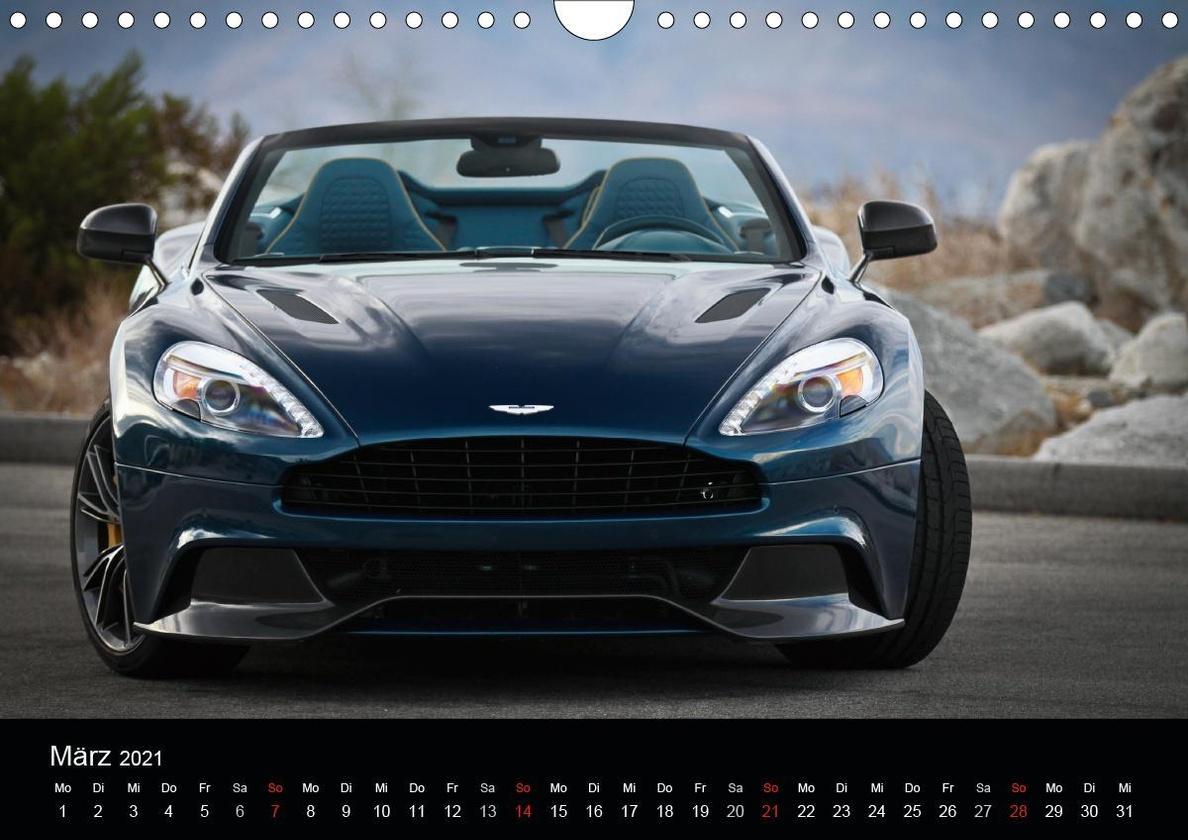 Aston Martin Vanquish Volante Wandkalender 2021 Din A4 Quer Kalender Bestellen
