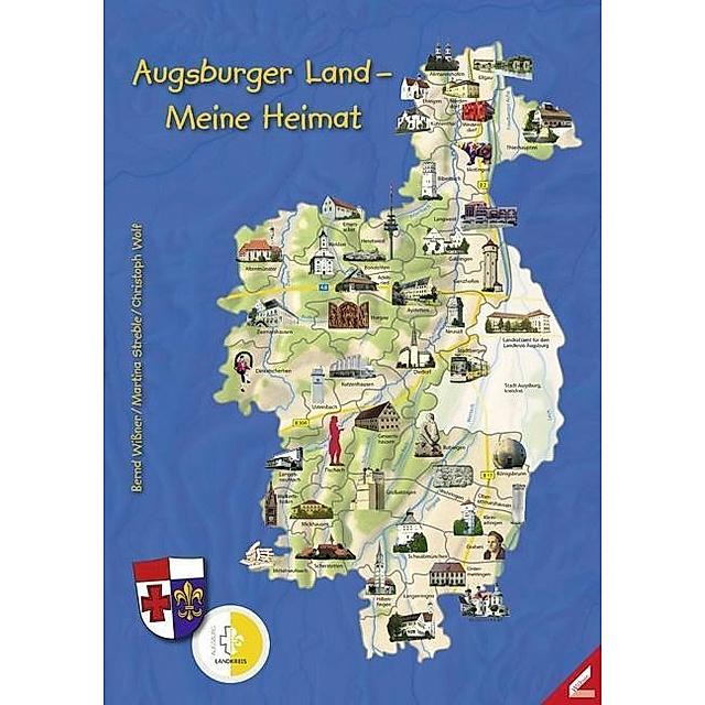 Augsburger Land Meine Heimat M 1 Karte Buch Versandkostenfrei