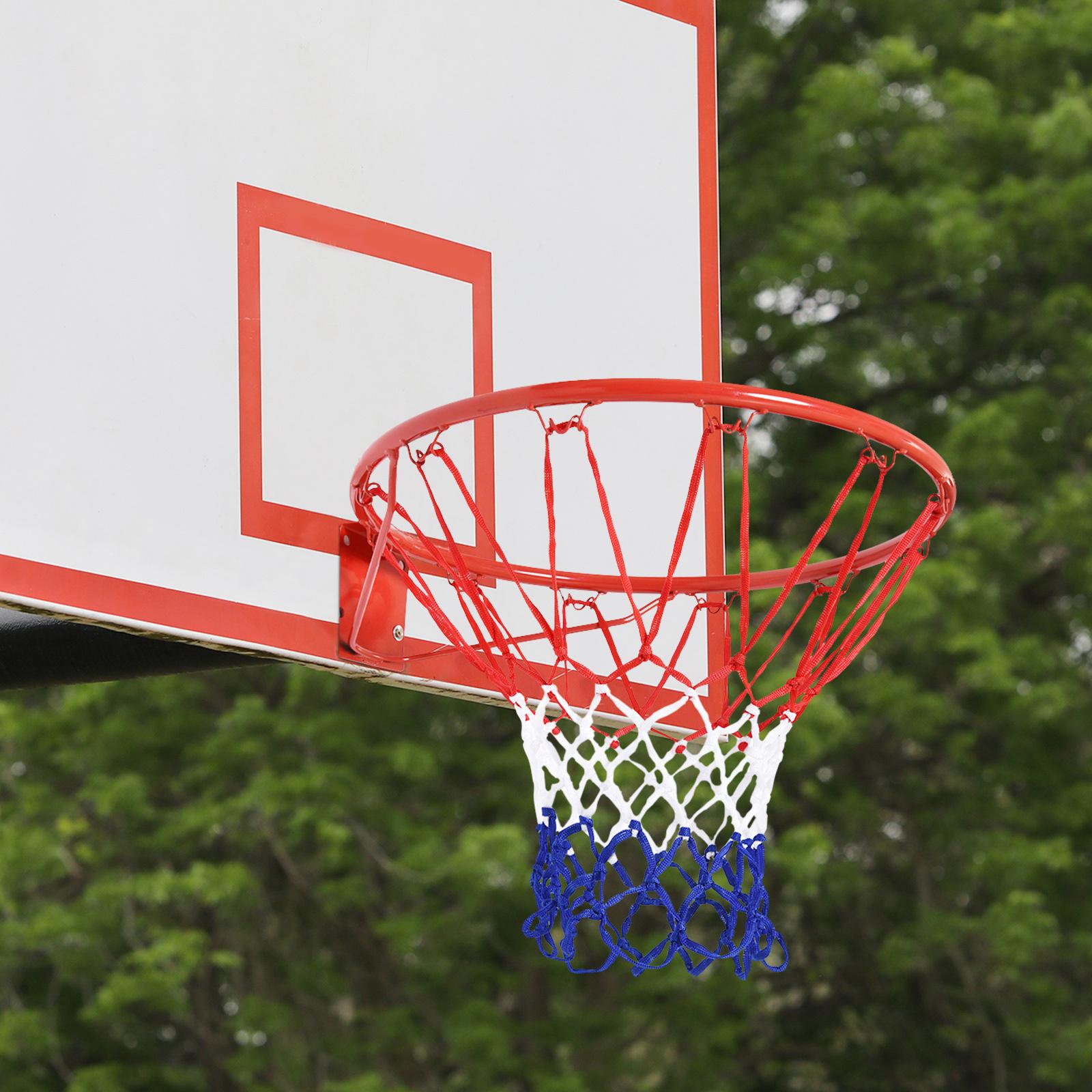 1 PC Basketballnetz Langlebiges mehrfarbiges Outdoor-Netz für den starkes
