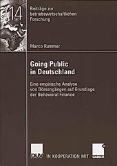 Beiträge zur betriebswirtschaftlichen Forschung: Going Public in Deutschland - eBook - Marco Rummer,