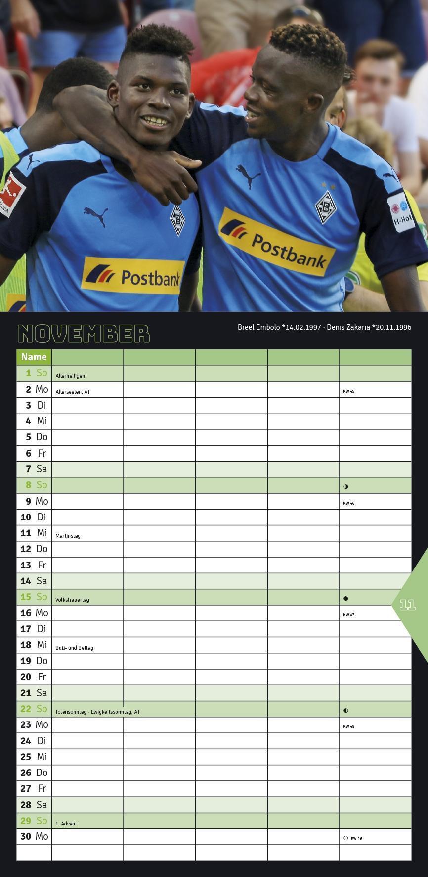 Borussia M/önchengladbach Notizbuch