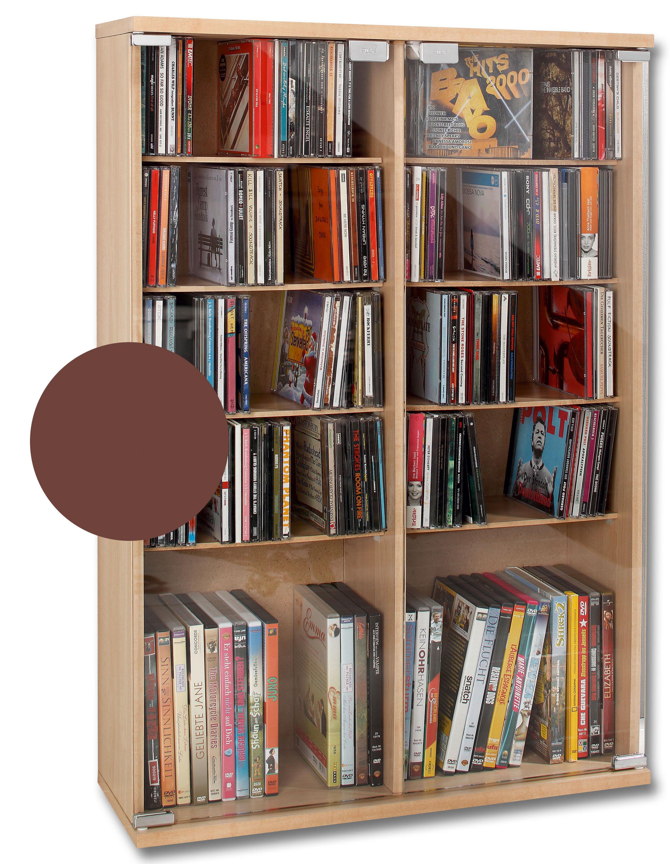 CD Regal mit Glastüren für 300 CDs hier bestellen