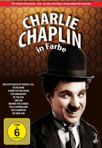Image of Charlie Chaplin in Farbe