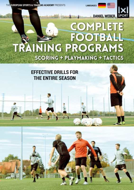 Image of Complete Football Training Programs - Scoring + Playmaking + Tactics - Effective Drills for an entire Season