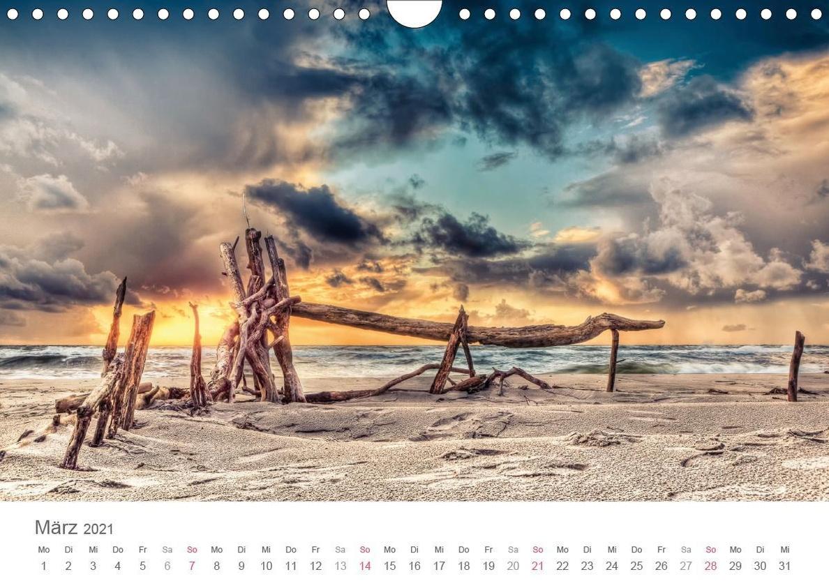 Darßer Weststrand Wandkalender 20 DIN A20 quer   Kalender bestellen
