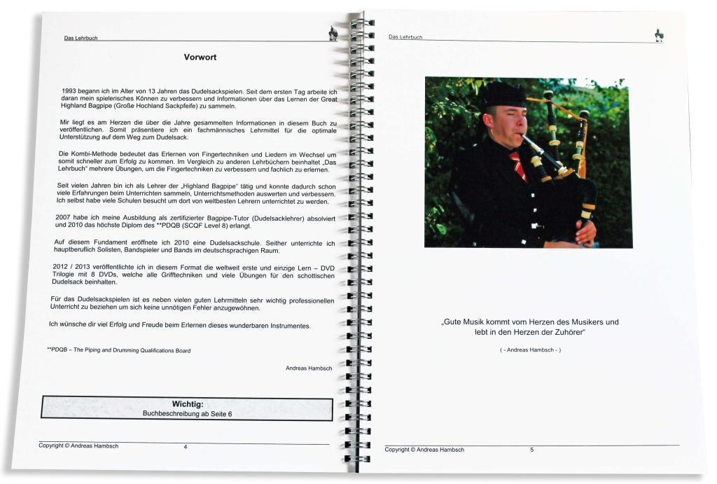 Dudelsack schottisches Hochland für Anfänger mit Tutor Buch practic chanter bag