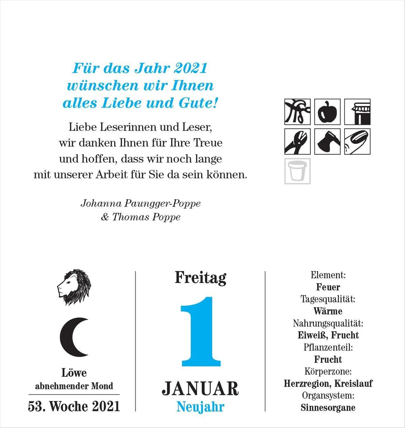 Das Mondjahr 2021 Abreisskalender Kalender Bei Weltbild De