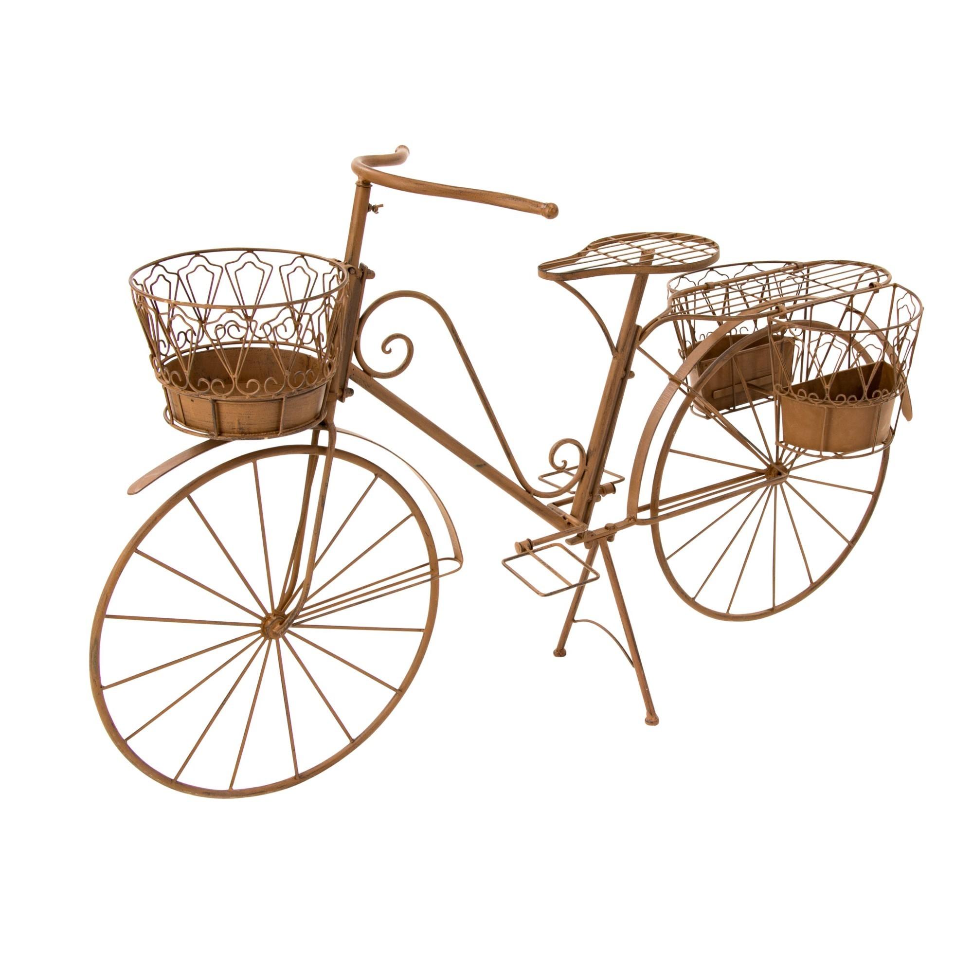 Deko Fahrrad mit Pflanzhalter Rusty, Metall