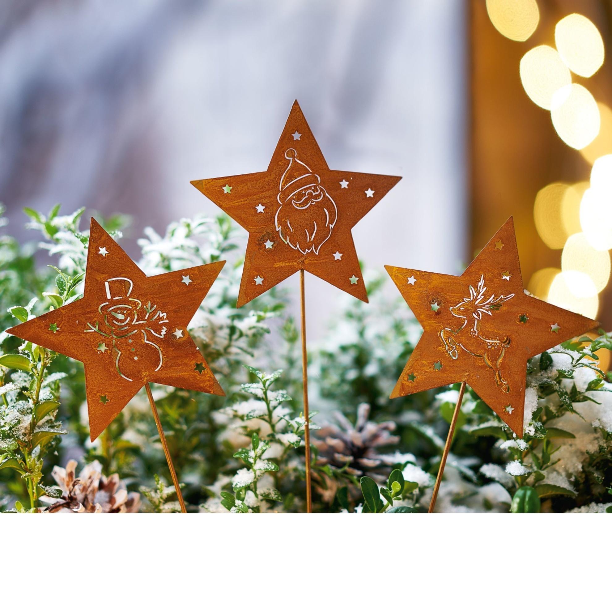 Deko Stecker Set Rost 3 Tlg Sterne Bestellen Weltbild Ch