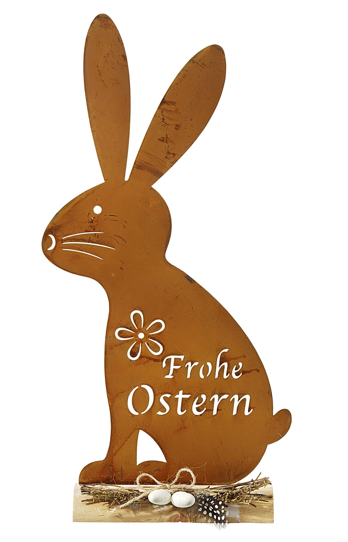 Dekorieren Basteln Osterhase Hasemit Wäscheklammer aus Filz und Holz