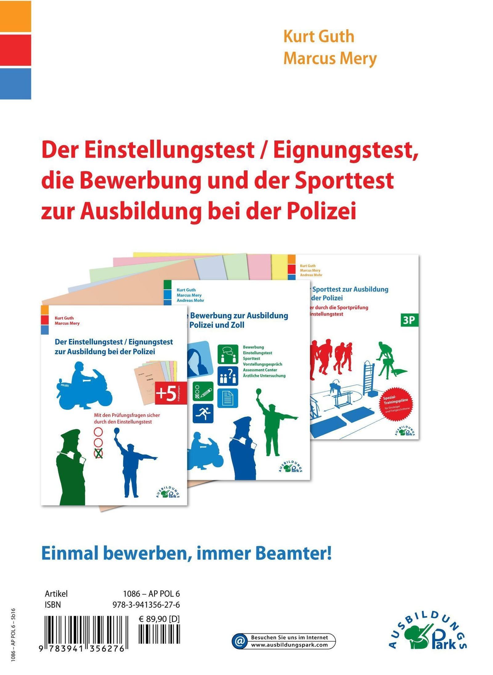 Der Einstellungstest Eignungstest Die Bewerbung Und Der Sporttest Zur Ausbildung Bei Polizei Und Zoll 3 Bde Weltbild Ch