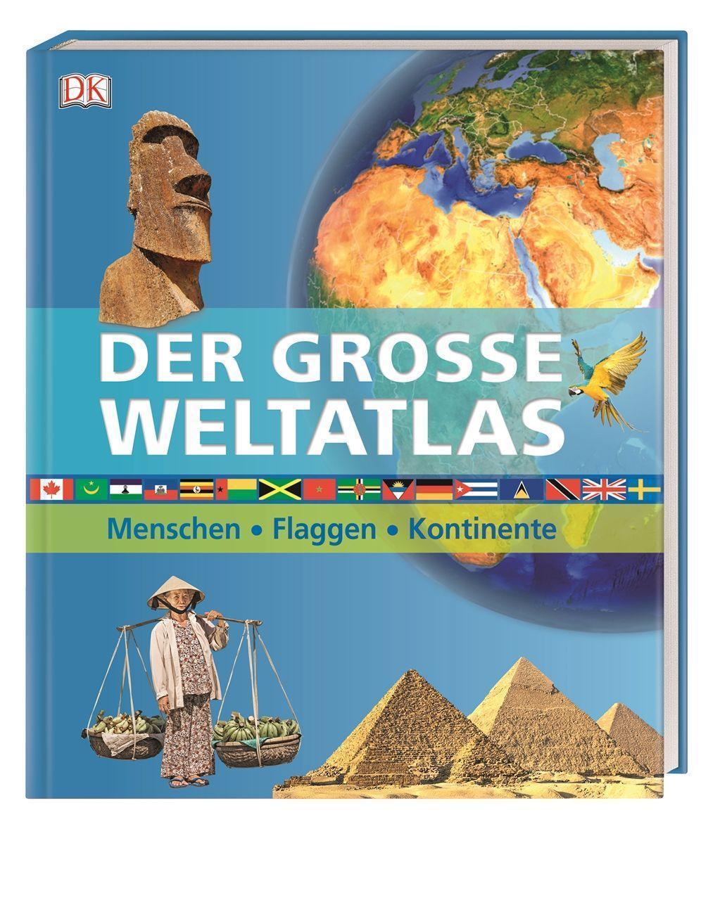 WAS IST WAS Sticker-Atlas Erde Infos zu Kontinenten Tieren und Sehensw/ürdigkeiten und /Über 100 Sticker