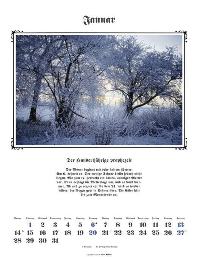 hundertjähriger kalender 2018 wetter