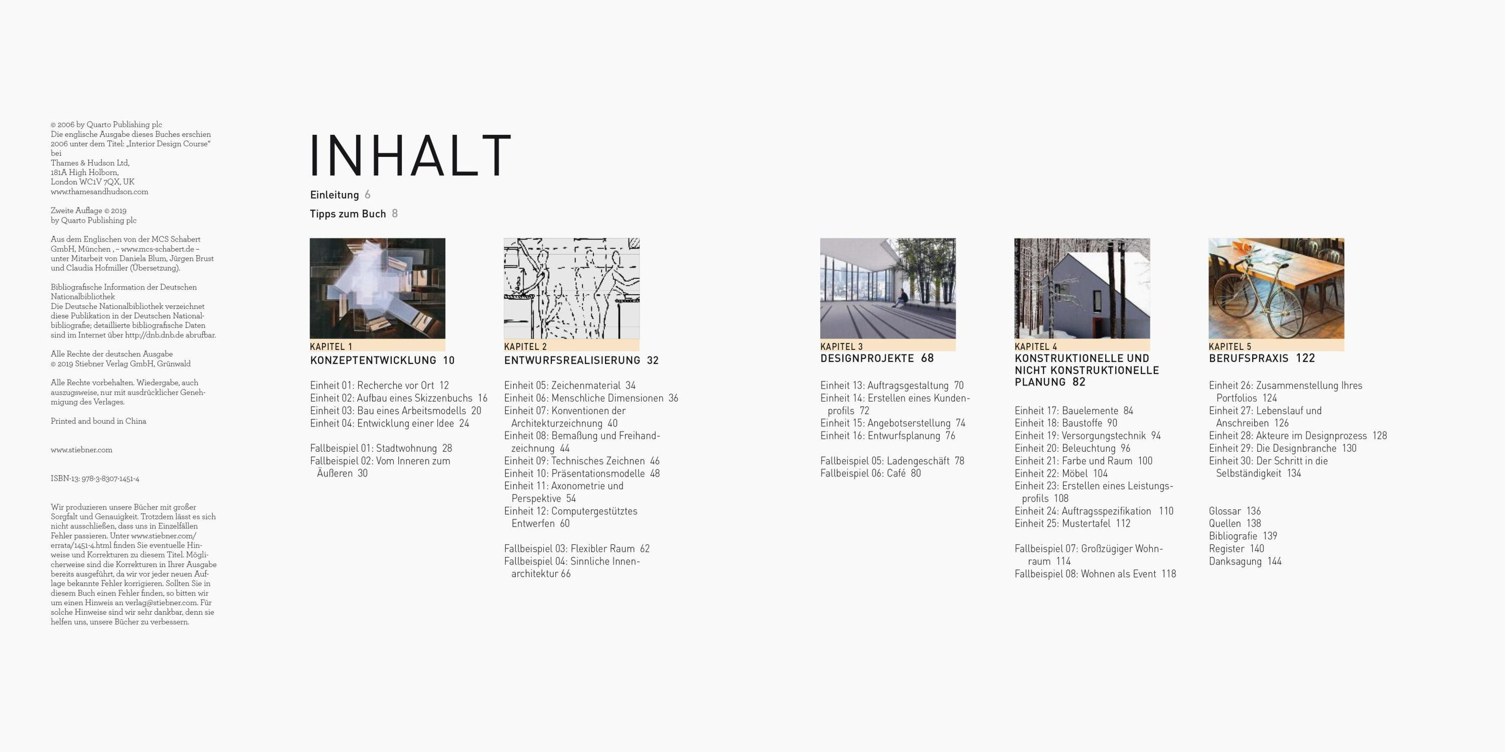 Der Interior Design Kurs Grundlagen, Techniken und Übungen zur  Innenarchitektur.