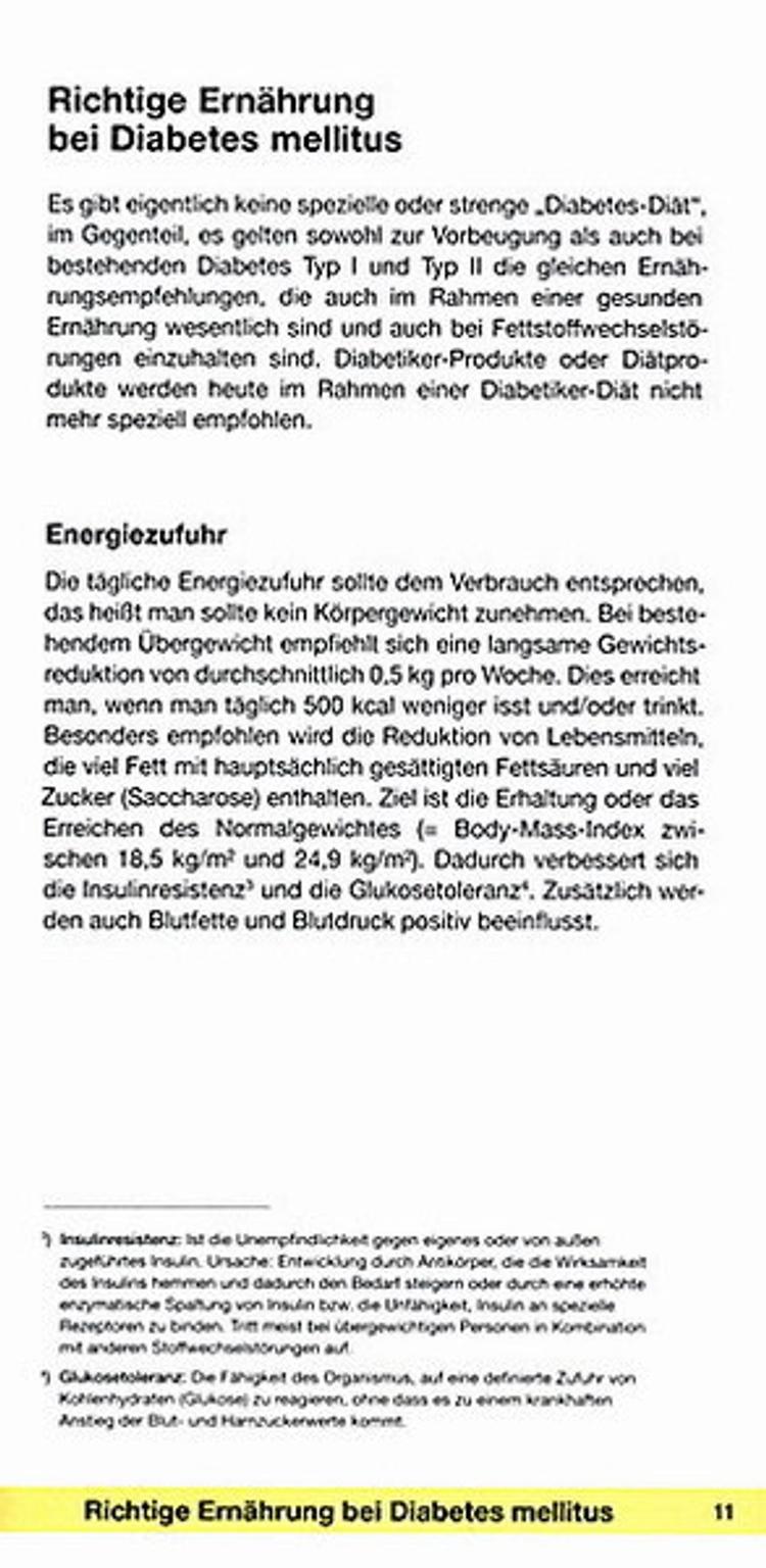 Diabetikerdiät Typ 2 Menü pdf