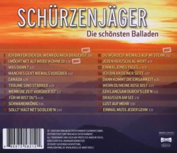 Die Schönsten Balladen CD von Schürzenjäger bei Weltbild.de