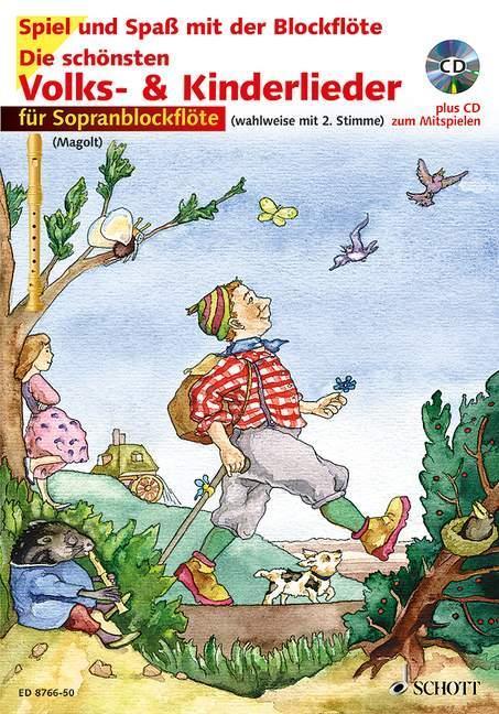 Blockflöte Noten leic Die schönsten Volks /& Kinderlieder MAGOLT sehr leicht