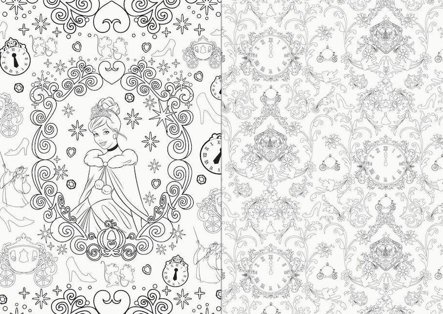 Disney Prinzessin 100 Motive Zum Ausmalen Und Entspannen Buch