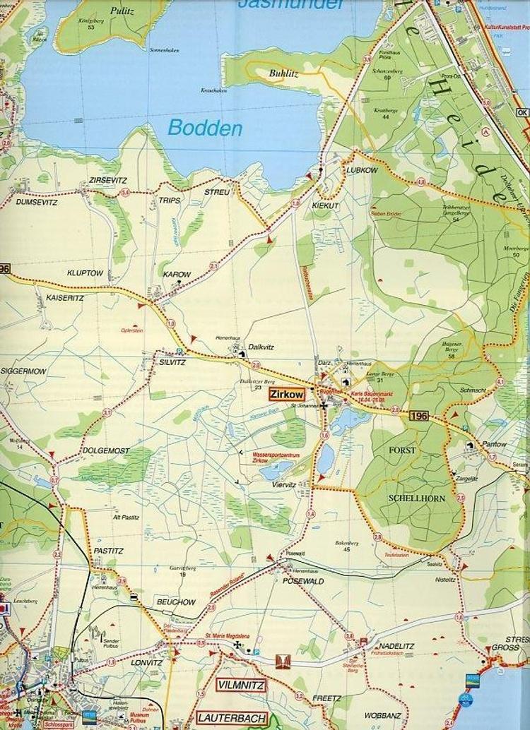 Doktor Barthel Karte Insel Rugen Bergen Gohren Baabe Binz