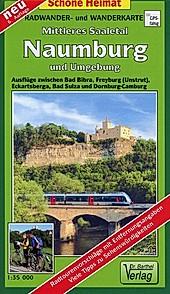Doktor Barthel Karte Mittleres Saaletal, Naumburg und Umgebung.  - Buch