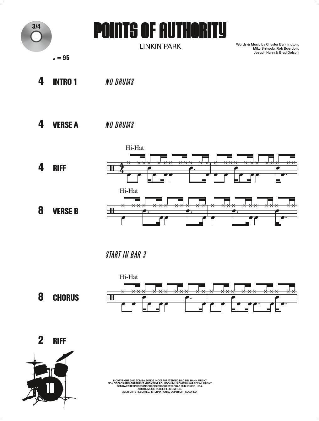 Drum along Noten für Schlagzeug 10 Hard Rock Songs 2.0 +mp3-CD 7764