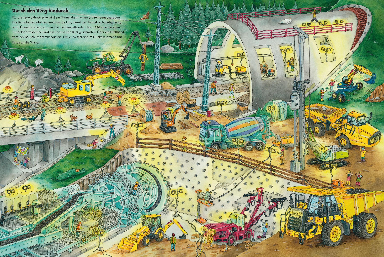 3D Cartoon für Kinder Max der Bagger und das