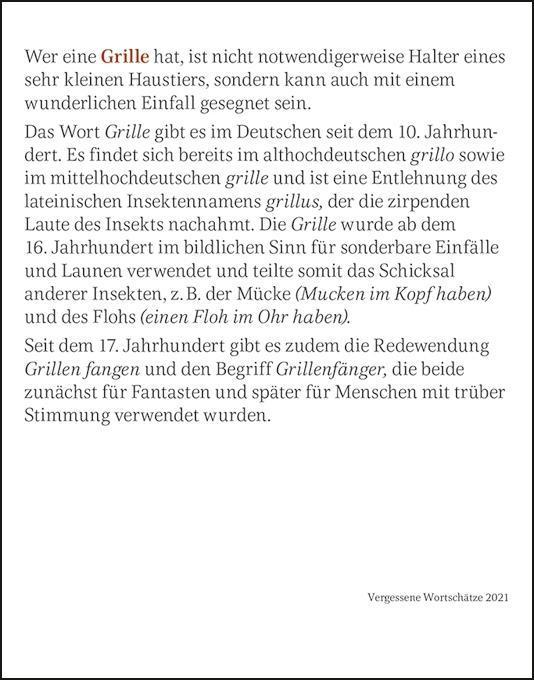Kalender 2021 Vergessene Wortsch/ätze 10,8 cm x 13,8 cm Tagesabrei/ßkalender mit vergessenen Worten Duden Harenberg-Verlag