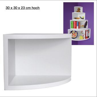 Eck Regal, matt weiß, 30 x 30 cm jetzt bei Weltbild.at bestellen