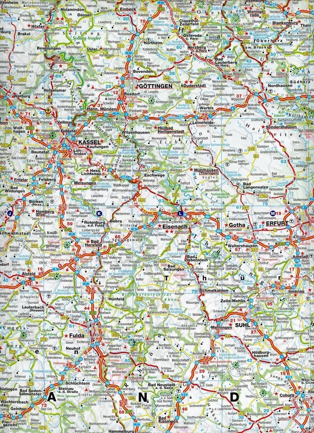 falk deutschland karte Falk Länderkarte Deutschland Falkfaltung 1:650 000 Buch