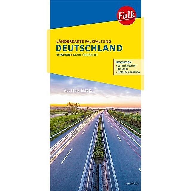 falk landkarte deutschland Falk Länderkarte Deutschland Falkfaltung 1:650 000 Buch