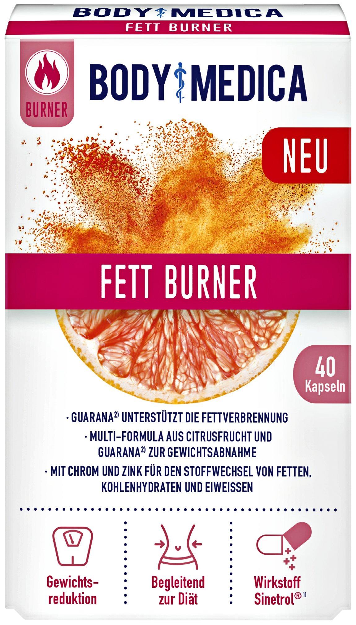 Fett Burner Kapseln von BodyMedica (40 Stk.)