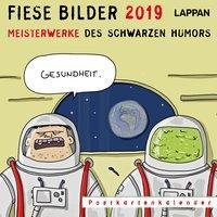 17,5 cm x 17,5 cm Hunde Wochenkalender mit tierischen Cartoons Wandkalender Postkarten-Kalender 2019 Lappan-Verlag