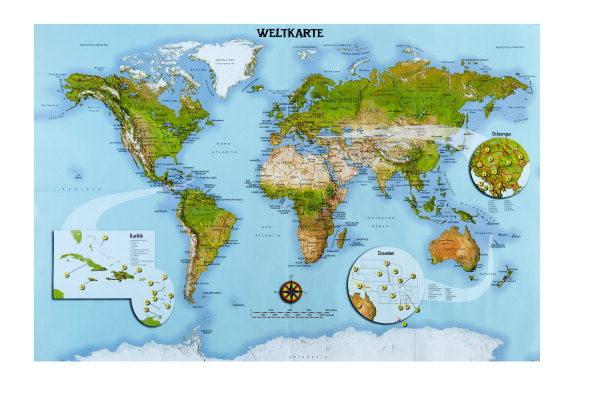 """Erde /& Kontinente /"""" Weltkarte Lände Set /_ Schultüte 5 kleine Zuckertüten"""