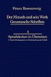 Franz Rosenzweig Sprachdenken. Rachel Bat-Adams, U. Rosenzweig, - Buch - Rachel Bat-Adams, U. Rosenzweig,