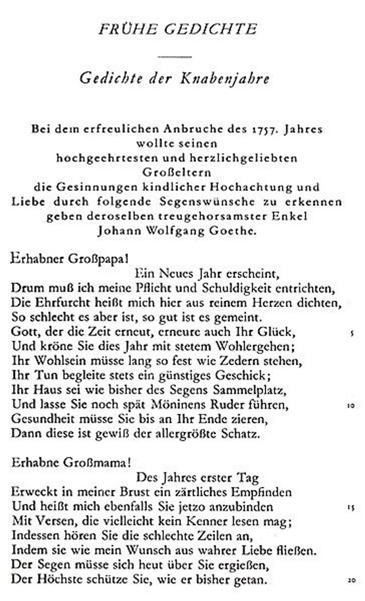 Goethe liebesgedicht Liebesgedichte Goethe