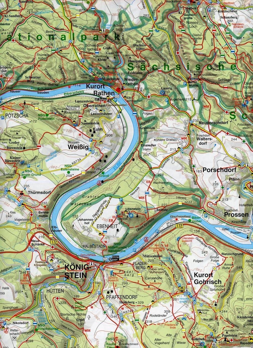 Geomap Karte Nationalpark Sachsische Schweiz Bohmische Schweiz Buch