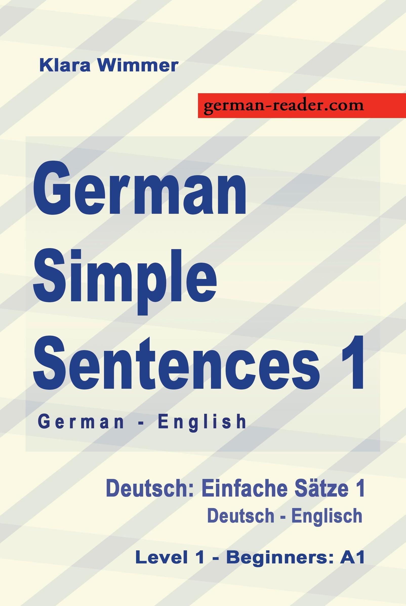 German Simple Sentences 20, German English, Level 20   Beginners A20 ...