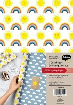 4x GeschenkanhängerNEU 4x Eulen-Geschenkpapier für Kinder