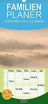 Götterdämmerung Bastei - Familienplaner hoch (Wandkalender 2021 , 21 cm x 45 cm, hoch) - Kalender - Thomas Herzog,