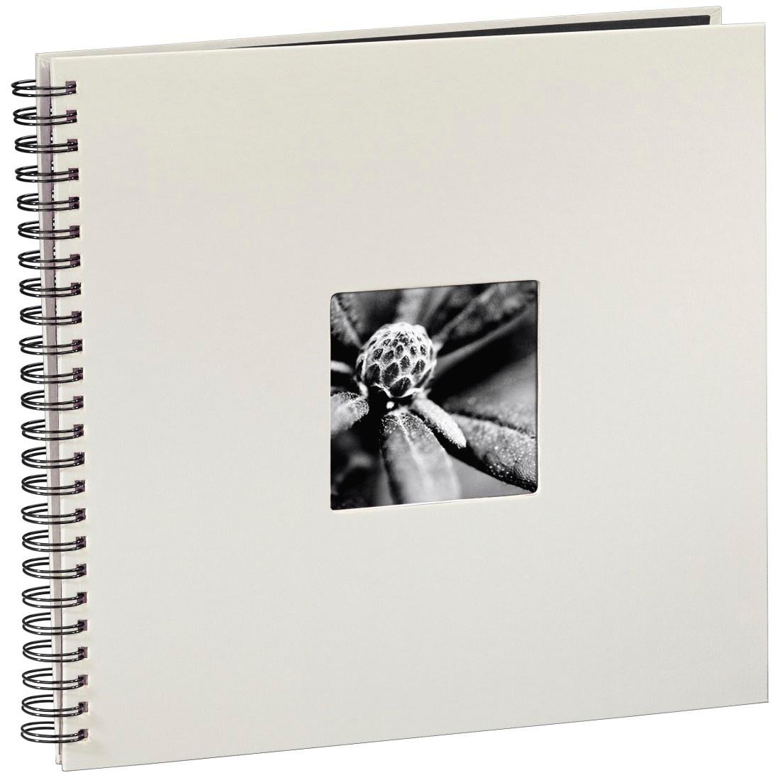 50 weiße Seiten Spiral-Album Fine Art Schwarz 28x24 cm