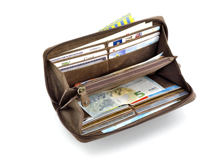 Damen Geldbörse Damenbörse Handtasche Geldbeutel Karikatur Mickey Lederbörse Neu